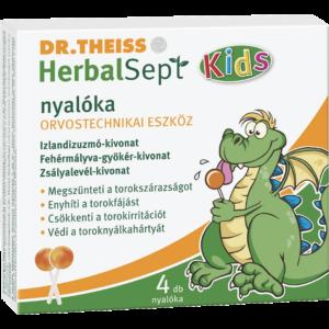 Dr. Theiss Herbalsept Kids köhögéscsillapító nyalóka 6x