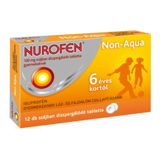 Nurofen Non-Aqua 100mg szájban oldódó tabletta gyermek 12x