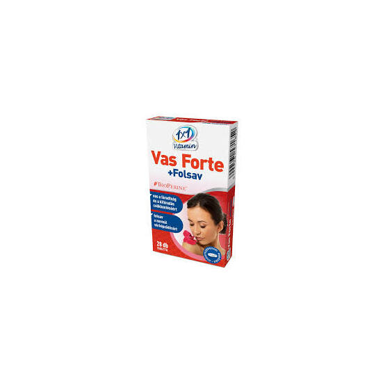1x1 Vitamin Vas forte + C + folsav tabletta Bioperinnel 28x
