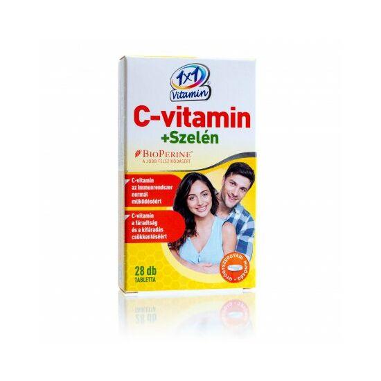 1x1 Vitamin C-vitamin + szelén tabletta 28x
