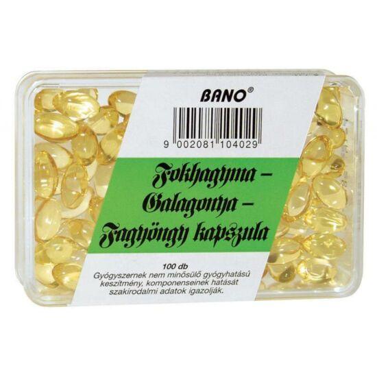Bánó Fokhagyma-Galagonya-Fagyöngy kapszula 100x