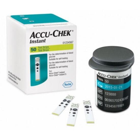 AccuChek instant vércukorszint mérő tesztcsík 50x