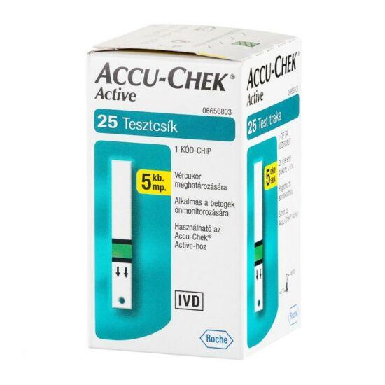 AccuChek Active vércukorszint mérő tesztcsík 25x