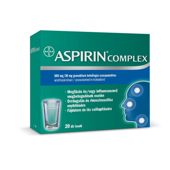 Aspirin® Complex 500mg/30mg granulátum belsőleges szuszpenzióhoz 20x