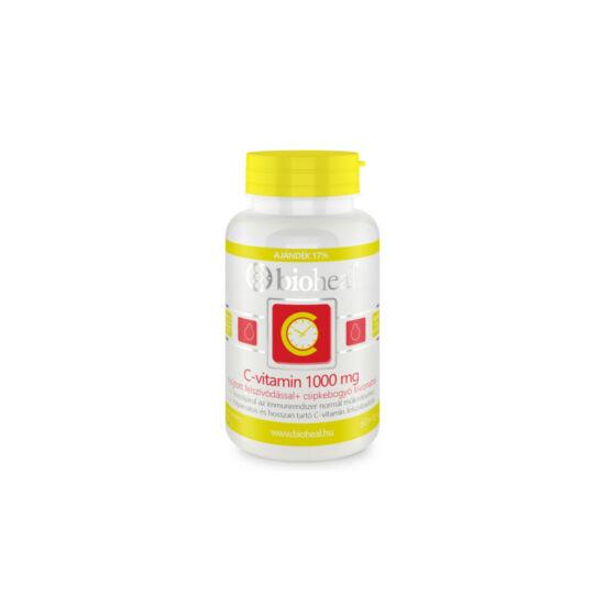 Bioheal C-vitamin 1000mg nyújtott hatású csipkebogyóval tabletta 70x