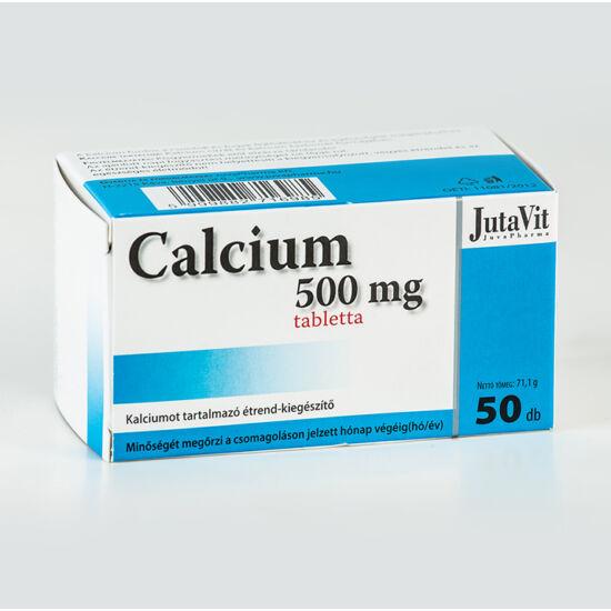 JutaVit Kalcium 500mg+D3 tabletta 50db