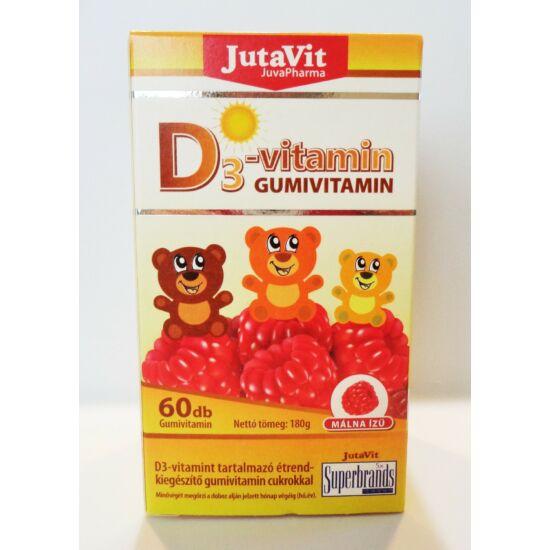 Jutavit D-3 Gumivitamin málna ízű 60db