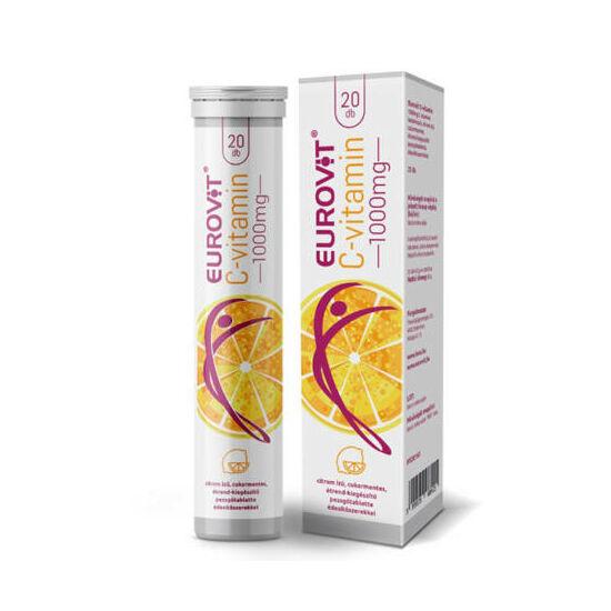 Eurovit C-vitamin 1000 mg pezsgőtabletta 20x