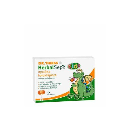 Dr. Theiss Herbalsept Kids nyalóka torokfájásra 6x