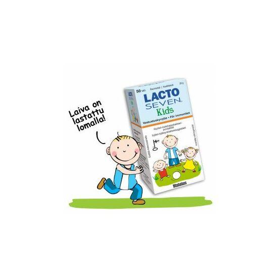 LactoSeven Kids eper és málna ízű rágótabletta 20x
