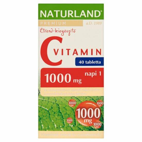 Naturland C-vitamin 1000mg tabletta 40x