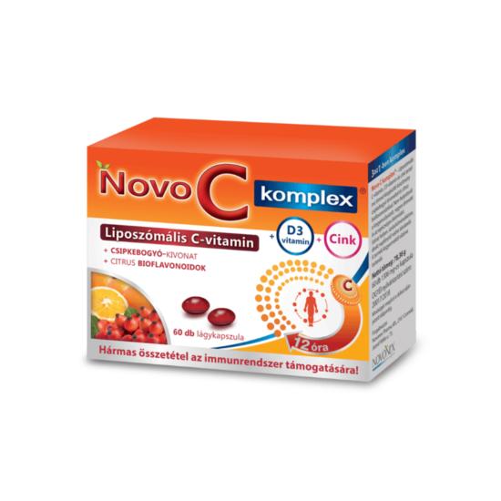 Novo C komplex liposzómás C-vitamin+D3+cink 60x