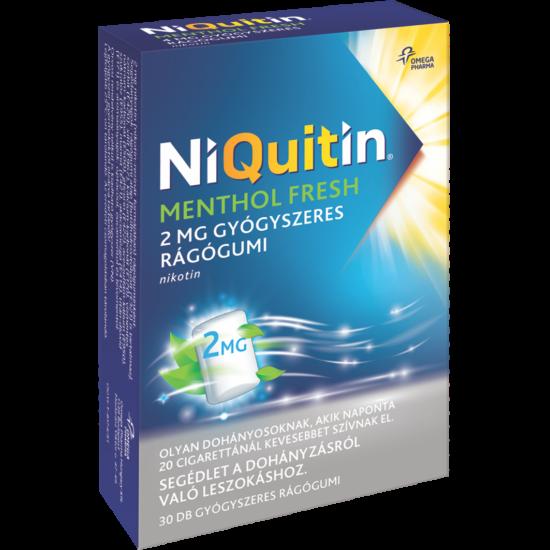 NiQuitin Menthol fresh 2mg gyógyszeres rágógumi 30x