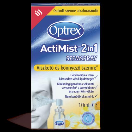 Optrex 2in1 szemspray viszkető könnyező szemre 10ml