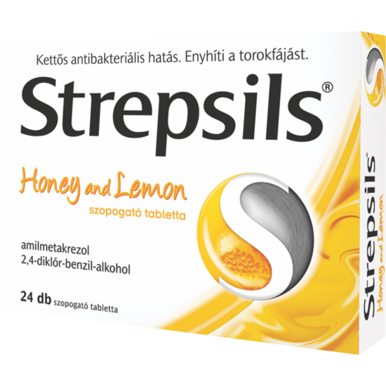 Strepsils Honey and lemon szopogató tabletta 36x