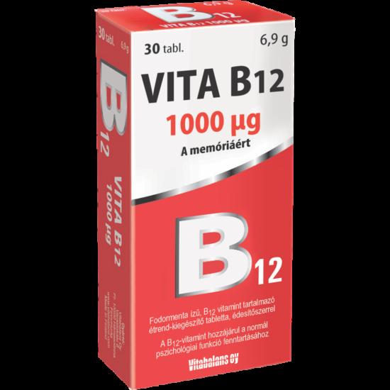 Vitabalans Vita B12 szopogató tabletta 30x
