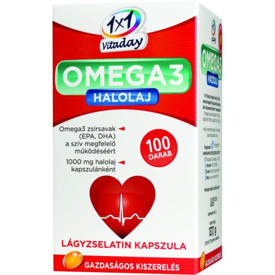 VitaPlus 1x1 Vitaday Omega-3 halolaj kapszula 100x