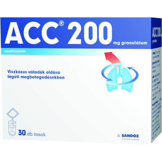 ACC 200 mg granulátum 30x3g