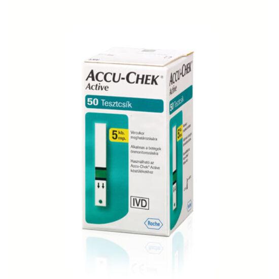 AccuChek Active vércukorszint mérő tesztcsík 50x