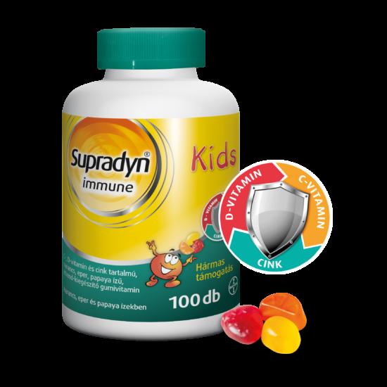 Supradyn Immune Kids gumivitamin 100x - narancs-eper