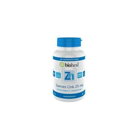 Bioheal szerves cink 25mg antioxidáns C-vitaminnal filmtabletta 70x