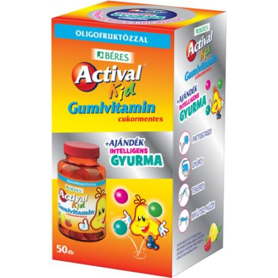 Actival Kid Gumivitamin 50x +ajándék intelligens gyurma