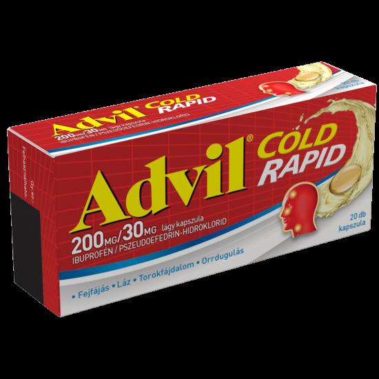 Advil Cold 200 mg/30 mg rapid kapszula 20x