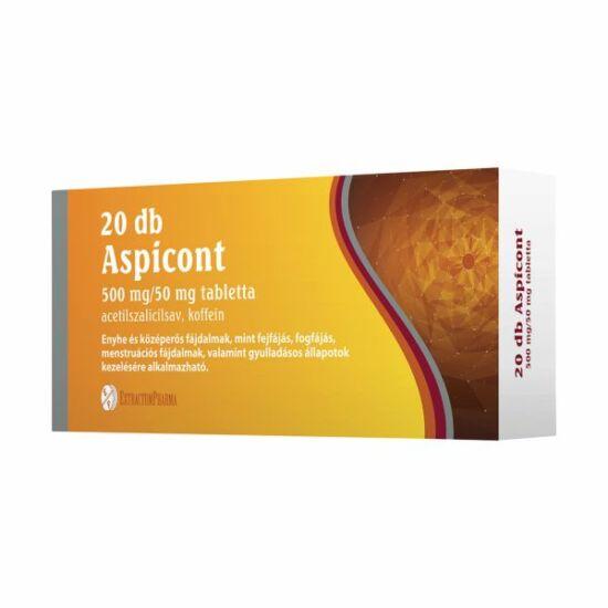 Aspicont 500 mg/50 mg tabletta 20x