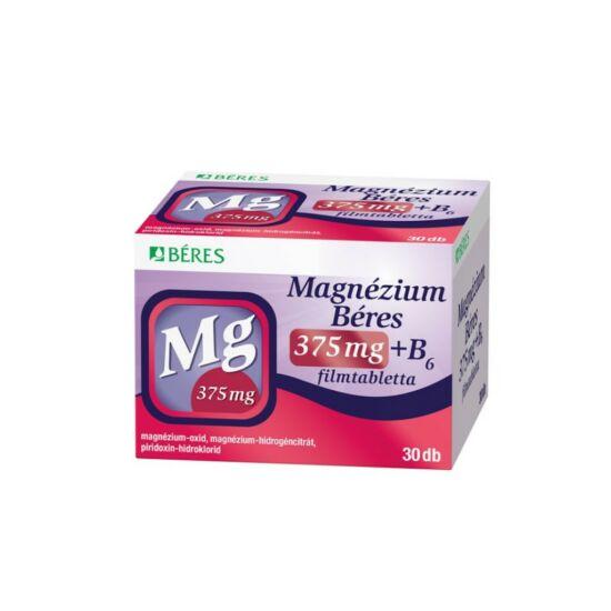 Béres Magnézium 375mg+B6 filmtabletta 30x