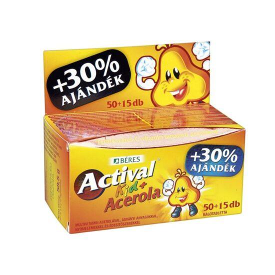 Actival Kid Acerolával rágótabletta  50x+15x