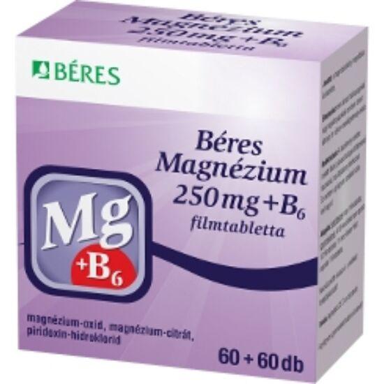 Béres Magnézium 250 mg+B6 filmtabletta  120x