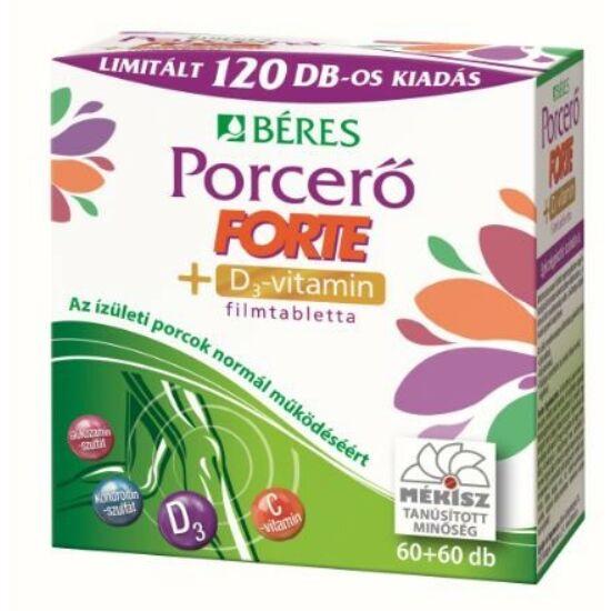 Béres Egészségtár Porcerő Forte +D3 filmtabletta  2x90x