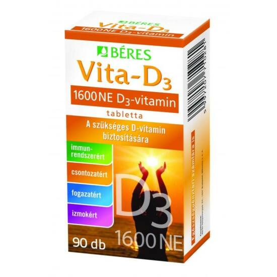 D3 vitamin Béres 1600 NE tabletta 90x