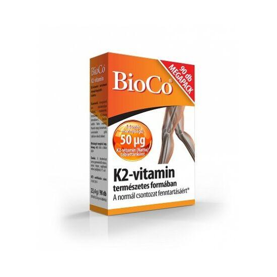 BioCo K2-vitamin tabletta 90x