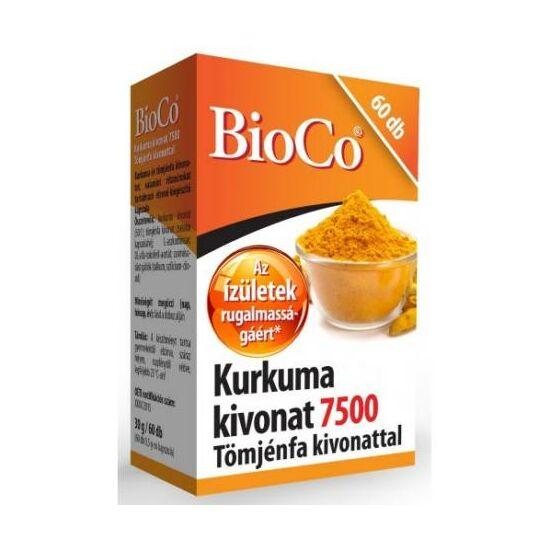 BioCo Kurkuma 7500 Tömjénfa kivonat kapszula 60x