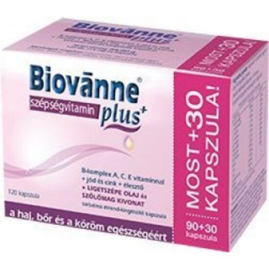Biovanne Plus szépségvitamin kapszula 90+30x