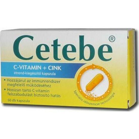 Cetebe C-vitamin+ cink kapszula 60x