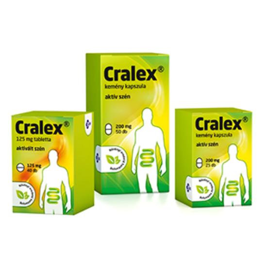 Cralex125mg kapszula (Carbo medicinalis) 70x