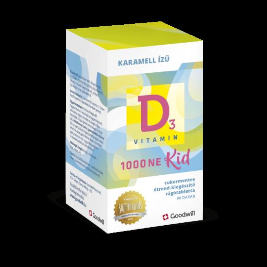 Goodwill D3-vitamin Kid 1000NE rágótabletta gyermekeknek 90x