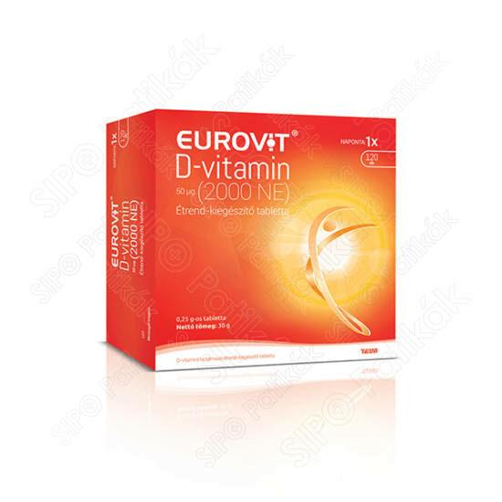 Eurovit D-vitamin 2000 NE tabletta 120x