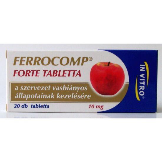 Ferrocomp 10mg forte tabletta 20x