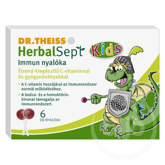 Dr. Theiss Herbalsept Kids immun nyalóka 6x
