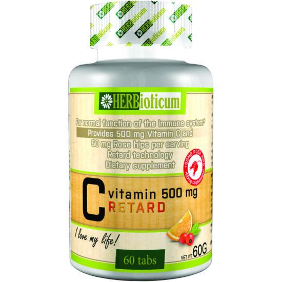 Herbioticum C-vitamin 500mg csipkebogyós retard 60x