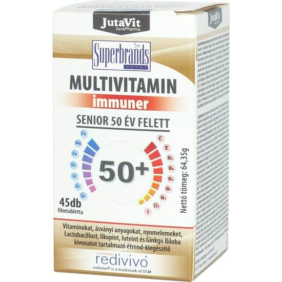 Jutavit Multivitamin immuner senior 50 év feletti filmtabletta 100x