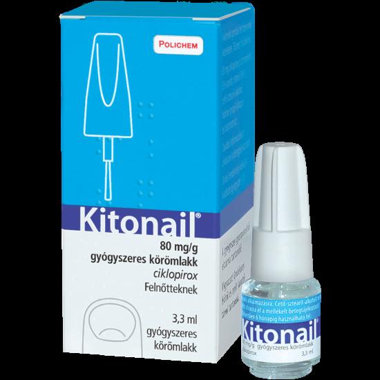 Kitonail gyógyszeres körömlakk 3,3ml