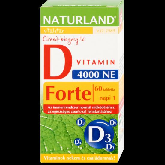 Naturland D-vitamin forte 4000NE tabletta 60x
