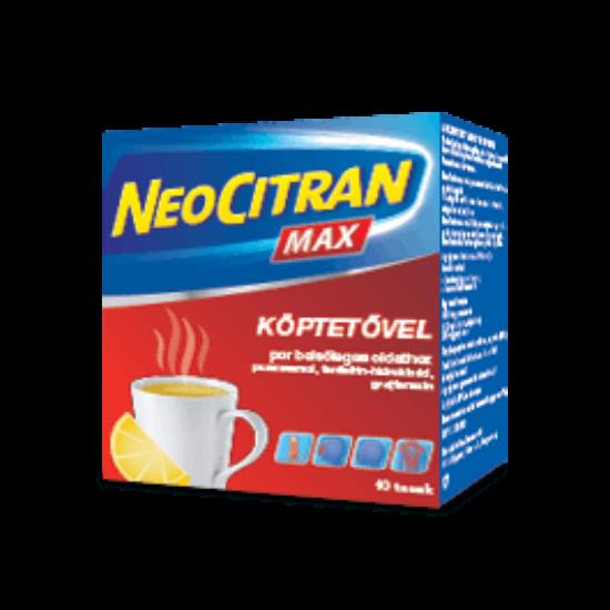 Neo Citran Max belsőleges por felnőtteknek köptetővel 10x
