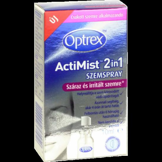 Optrex 2in1 szemspray száraz+irritált szemre 10ml