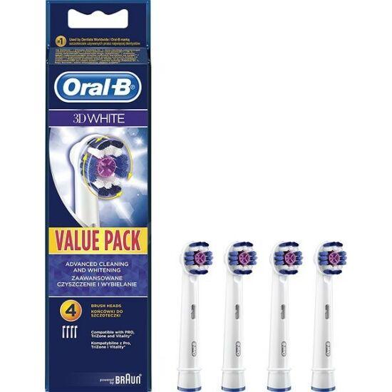 Elektr.fogkeféhez pótfej Oral-B 3D White 4x