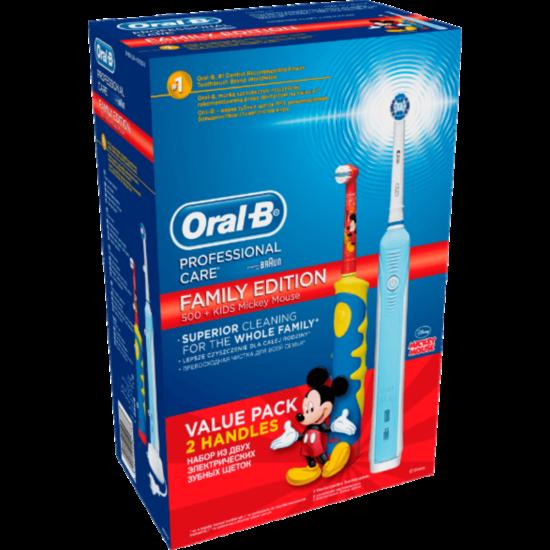 Oral-B PC 500 + D10 Mickey duopack xmaspack - D16 2015, elektromos fogkefe